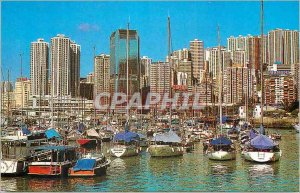 Modern Postcard The Hong Kong Typhoon Shelter at Causeway Bay Yacht