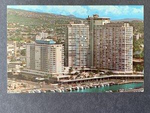 Ilikai Hotel Overlooking Waikiki Beach Honululu HI Chrome Postcard H1173085808