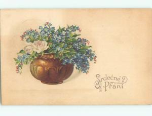 Divided-Back BEAUTIFUL FLOWERS SCENE Great Postcard AA2945