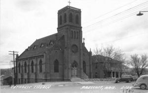 Autos Catholic Church Prescott Arizona 1940s RPPC Photo Postcard Cook 3459