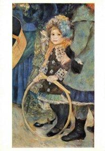 Art Postcard, Les Parapluies detail, Little Girl, by Pierre-Auguste Renoir DH2