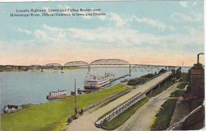 Lincoln Highway; Lyons and Fulton Bridge , mississippi River, 00-10s