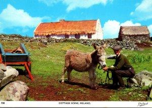 Ireland Typical Cottage Scene
