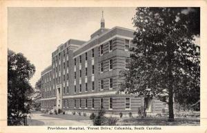 Columbia South Carolina Forest Drive Providence Hospital Antique Postcard K46299