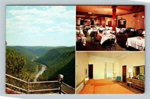 Wellsboro PA, The Penn Wells Hotel, Chrome Pennsylvania Postcard
