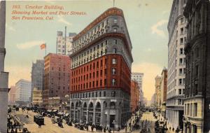 San Francisco California~Crocker Building @ Market & Post Street~c1910 Postcard