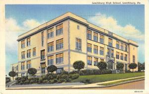 Leechburg Pennsylvania High School Street View Antique Postcard K52279