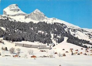 Switzerland Leysin Hotel Reine Fabiola et vue sur les Tours-d'Ai Mountain Winter