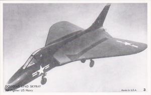 Military U S Navy Jet Fighter Douglas XF4D Skyray