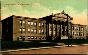 Instituto Nuevo Rochelle New York Ny 1912 Vtg Tarjeta Postal Unp Valentine &