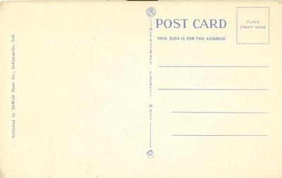 Murat Temple, Indianapolis, Indiana, unused linen Postcard
