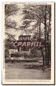 Old Postcard Autun Ancient Roman Gate Dite d & # 39Arroux
