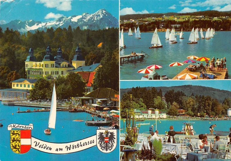 Velden am Woerthersee Alpenseebad Lake Boats Church General view