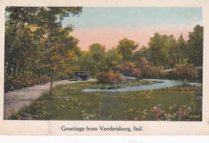 Indiana Greetings From Veedersburg 1930