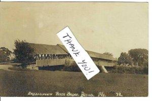 CK-465 ME, Bethel, Androscoggin River Covered Bridge Divided Back Postcard