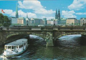 Germany Hamburg Lombardsbruecke und Innenstadt