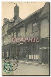 Old Postcard Bourges House of the White Queen
