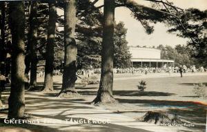 Lennox Massachusetts~Tanglewood Music Shed~Crowd~1955 Real Photo Postcard~RPPC