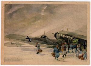 Zeichnung: Obergefreiter Fritz Brauner, Artist Signed