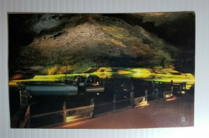 Vintage Postcard Lost Sea Lake Caverns Tennessee Sweetwater 1984 glass boat  482