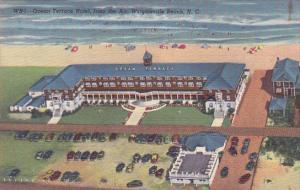 Ocean Terrace Hotel from Air, Wrightsville Beach, North Carolina, 1947 PU