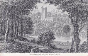 Carisbrooke Castle Isle Of Wight 1855 Painting Postcard
