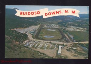 RUIDOSO DOWNS NEW MEXICO HORSE RACING TRACK VINTAGE N.M. POSTCARD