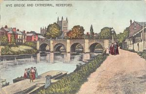 BR74761 wye bridge and cathedral hereford  uk