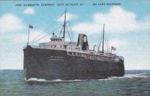 Pere Marquette Car Ferry City Of Flint 32 On Lake Michigan