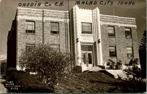 Vtg  RPPC 1940s Malad City Idaho ID Oneida County Court House UNP Cecil Nixon