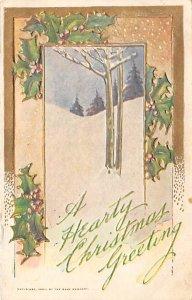 Christmas Holiday Postcard Vintage Xmas Post Card 1907