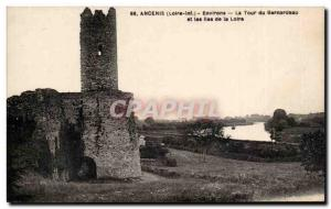 Ancenis Old Postcard Surroundings Tower Bernardeau and the islands of the Loire