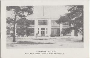 Old ZERAPHATH New Jersey NJ Postcard PUBLISHING BUILDING Alma White College