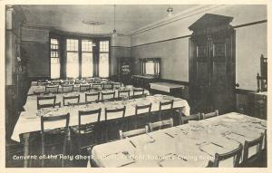Convent of the Holy Gost School Bedford Boarders Dining Room old postcard