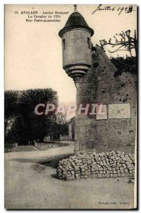 Old Postcard Avallon Old Rampart Trooper Gate Street Auxerroise