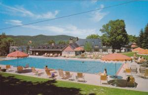 MONT-TREMBLANT, Quebec, Canada, 40-60s; Lodge, Swimming Pool, Terrace