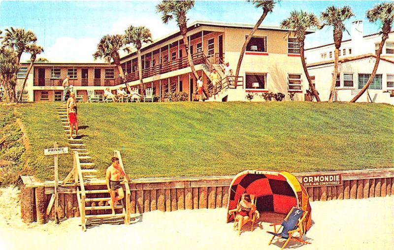 Ormond Beach FL Ormondie Beach Motel AAA Rated Vintage Postcard