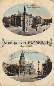 Raphael Tuck & Sons', #1927; PLYMOUTH, England, 1900-1910's; Clock Tower And ...