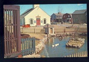 Mystic, Connecticut/CT Postcard, Old Mistick Village, Shopping Area