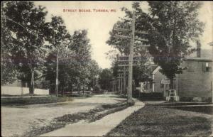 Turner ME Street Scene c1910 Postcard