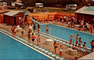 Connecticut East Canaan Lone Oak Campsite Swimming Pools 1972