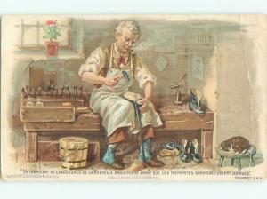 1900 Tires Postcard Ad COBBLER FIXES SHOES WITH GOODYEAR WELDING SYSTEM AC3484