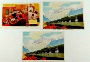Northern Pacific Railway North Coast Limited Train Lot of 3 Postcards Vista Dome