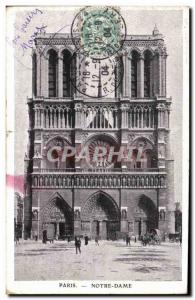 4 Paris - Notre Dame - Old Postcard