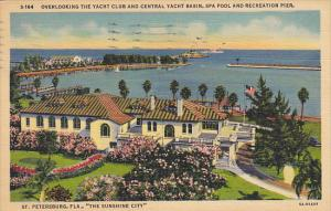 Yacht Club and Central Yacht Basin St Petersburg Florida 1939