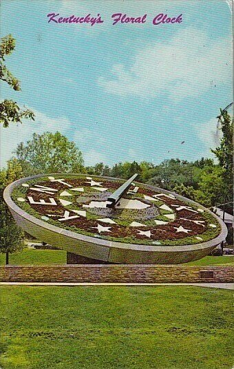 Kentuckys Floral Clock Frankfort Kentucky 1972