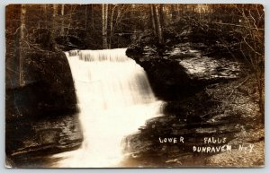 Dunraven New York~Beautiful Lower Falls~Mabel Sutherland Fine Time~1912 RPPC