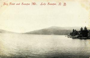NH - Lake Sunapee. The Lake and the Mountain and Bay Point