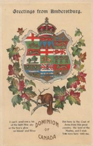 AMBERSTBURG , Ontario , 1914 ; Coat of Arms