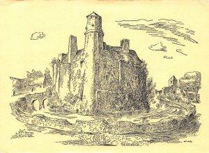 France Chateau de Pirou La Forteresse Cote Est Castle Postcard